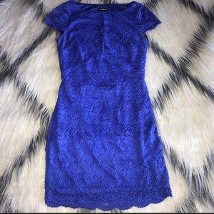 GUC Bebe Blue Lace Dress